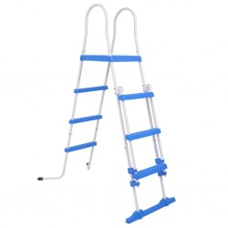 stradeXL Above-Ground Pool Safety Ladder with 3 Steps 122 cm