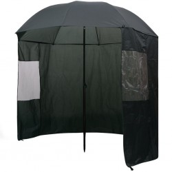 stradeXL Fishing Umbrella Green 240x210 cm