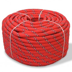 stradeXL Linka żeglarska z polipropylenu, 12 mm, 50 m, czerwona