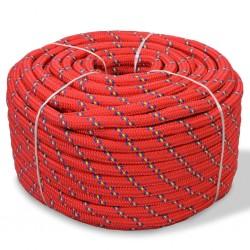 stradeXL Linka żeglarska z polipropylenu, 14 mm, 50 m, czerwona