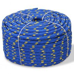 stradeXL Linka żeglarska z polipropylenu, 14 mm, 50 m, niebieska