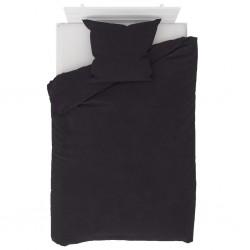 stradeXL Duvet Cover Set Fleece Anthracite 135x200/80x80 cm