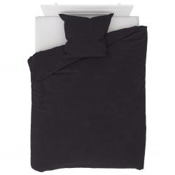 stradeXL Duvet Cover Set Fleece Anthracite 155x200/80x80 cm