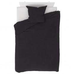 stradeXL Duvet Cover Set Fleece Anthracite 155x220/80x80 cm