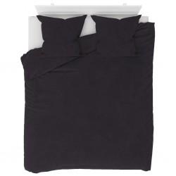 stradeXL Duvet Cover Set Fleece Anthracite 200x220/80x80 cm