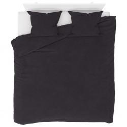 stradeXL Duvet Cover Set Fleece Anthracite 200x200/60x70 cm