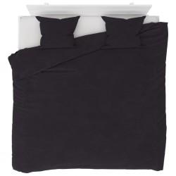 stradeXL Duvet Cover Set Fleece Anthracite 240x220/60x70 cm