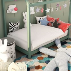 stradeXL 2 Piece Kids Winter Duvet Set White 120x150 cm/40x60 cm