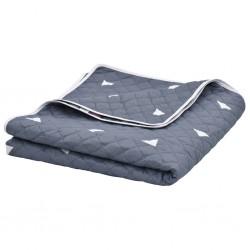 stradeXL Quilt Dark Blue 220x240 cm Ultrasonic Quilted Fabric