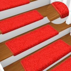 stradeXL Nakładki na schody, 15 szt., 65x25 cm, czerwone