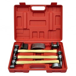 stradeXL 7-Piece Auto Body Hammer and Dolly Dent Repair Set