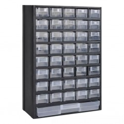 41-Drawer Plastic Storage Cabinet Tool Box