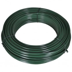 stradeXL Drut naciągowy, 55 m, 2,1/3,1 mm, stalowy, zielony