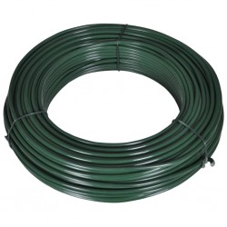 stradeXL Fence Span Wire 80 m 2.1/3.1 mm Steel Green