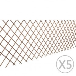 stradeXL Willow Trellis Fence 5 pcs 180x90 cm