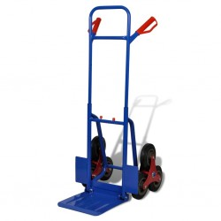 stradeXL Folding Sack Truck with 6 Wheels Blue