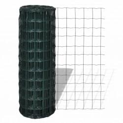 stradeXL Euro ogrodzenie, stalowe, 10 x 1,0 m, zielone
