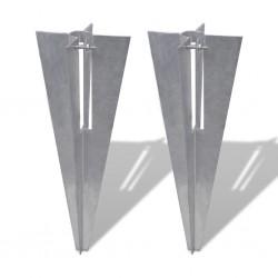 stradeXL Fence Post Spikes 2 pcs Steel