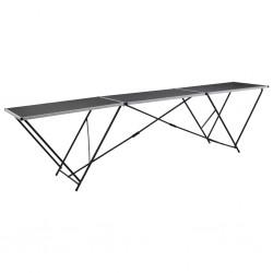 stradeXL Składany stół do tapetowania, MDF i alumnium, 300x60x78 cm