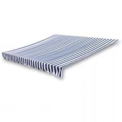 stradeXL Tkanina do markizy, niebiesko-biała, 6 x 3 m (bez ramy)
