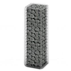 stradeXL Kosz gabionowy z pokrywami, drut galwanizowany, 100x30x30 cm