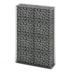 stradeXL Kosz gabionowy z pokrywami, drut galwanizowany, 150x100x30 cm