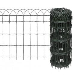 stradeXL Garden Border Fence Powder-coated Iron 25x0.65 m
