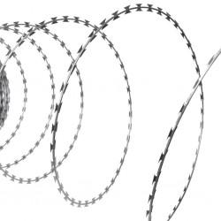 stradeXL Drut kolczasty NATO, żyletkowy z galwanizowanej stali, rolka 100 m