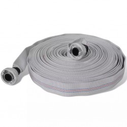 stradeXL Fire Hose Flat Hose 30 m with D-Storz Couplings 1 Inch