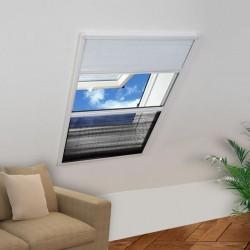 stradeXL Plisowana moskitiera okienna, 160 x 80 cm, z osłoną
