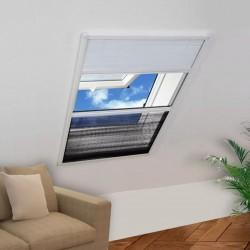 stradeXL Plisowana moskitiera okienna, 160 x 110 cm, z osłoną