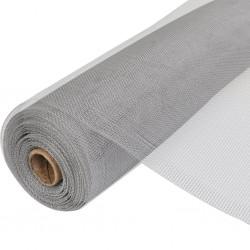 stradeXL Siatka na insekty, aluminiowa, 150 x 1000 cm, srebrna