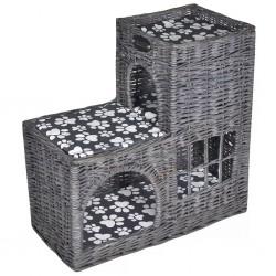 Wiklinowe legowisko z podusią Koci zamek