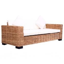 stradeXL 3-osobowa sofa ogrodowa, z naturalnego rattanu