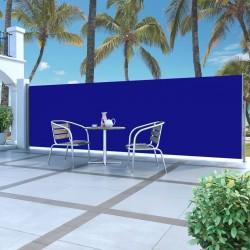 stradeXL Zwijana markiza boczna, 160 x 500 cm, niebieska