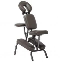 stradeXL Fotel do masażu, sztuczna skóra, antracytowy, 122x81x48 cm