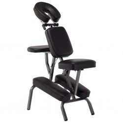 stradeXL Fotel do masażu, sztuczna skóra, czarny, 122x81x48 cm
