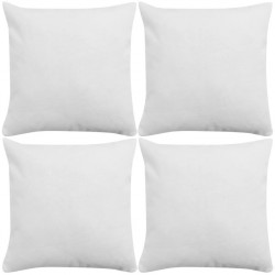 stradeXL Cushion Covers 4 pcs Linen-look White 40x40 cm
