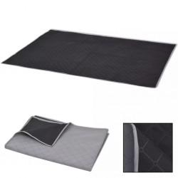 stradeXL Picnic Blanket Grey and Black 100x150 cm