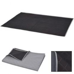 stradeXL Picnic Blanket Grey and Black 150x200 cm
