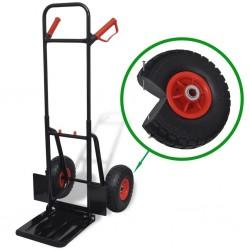 Teleskopowy wózek magazynowy metalowy czarno czerwony