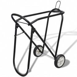 Metalowy stojak na siodło z kółkami