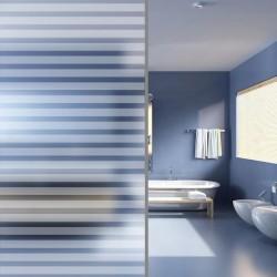 stradeXL Folia na szybę, mrożone szkło w paski, samoprzylepna, 0,9 x 5 m