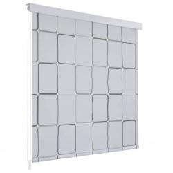 stradeXL Roleta prysznicowa 120 x 240 cm, wzór w kwadraty