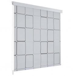 stradeXL Roleta prysznicowa 140 x 240 cm, wzór w kwadraty