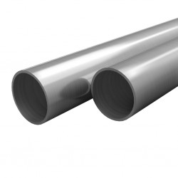 stradeXL Rury ze stali nierdzewnej, 2 szt., okrągłe, V2A, 2 m, Ø42x1,8mm