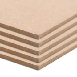 stradeXL Płyty MDF, 10 szt., kwadratowe, 60 x 60 cm x 2,5 mm