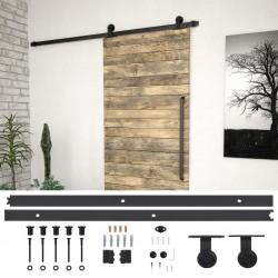 stradeXL System do montażu drzwi przesuwnych, 200 cm, stal, czarny