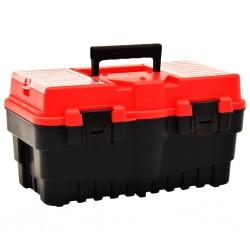 stradeXL Skrzynka narzędziowa, plastikowa, 462x256x242 mm, czerwona