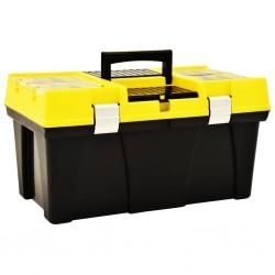 stradeXL Skrzynka narzędziowa, plastikowa, 595x337x316 mm, żółta